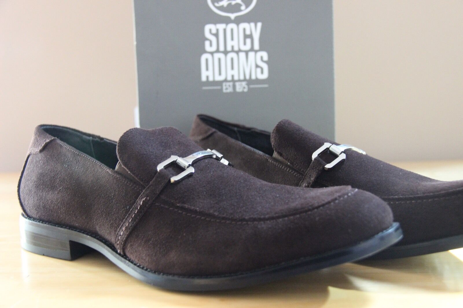 Stacy Adams Brown Gulliver Loafer Brown Adams Uomo Size 11.5  24993 acd8d2