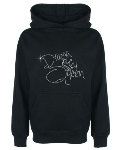 Drama queen strass//strass embelli children/'s sweat à capuche sweat shirt