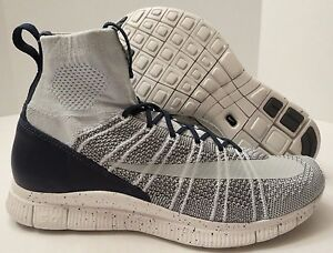 f19b6cb4fa8 Image is loading NIKE-FREE-FLYKNIT-MERCURIAL-805554-001-PURE-PLATINUM-