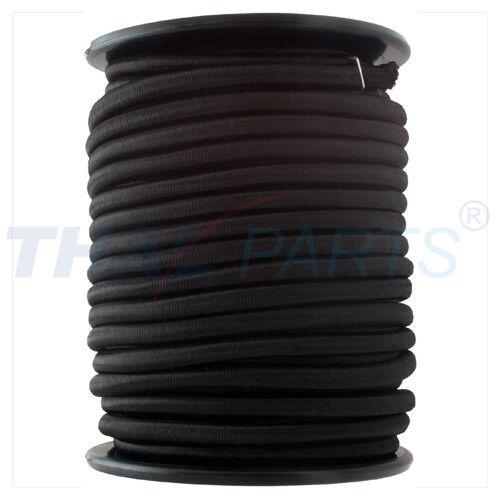 30m expanderseil 8,0mm negro/goma cordel con pp-abrigo cuerda de goma planificar cuerda