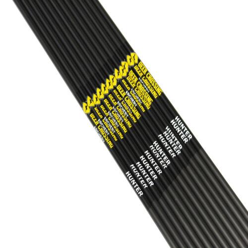 12pcs Archery carbon arrow shafts sp300 340 400 500 600 ID6.2mm compound bow