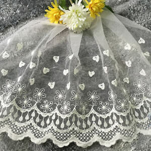 1-yd-Vintage-Lace-Bridal-Wedding-Edge-Trim-Sewing-Craft-Costume-Accessory-35cm