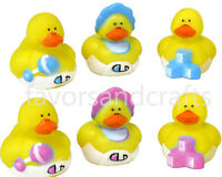 Rubber Ducks Pink Blue Baby Shower Favors Yellow Bath Duckies Ducky Lot 24 Pack