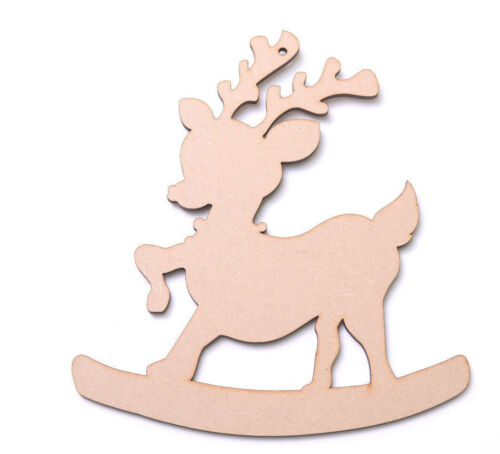 Wooden Mdf Rocking Reindeers Rudolph Christmas Gift Tags