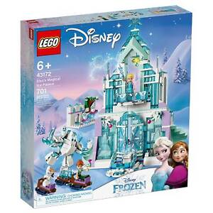 Disney Lego 43172 Frozen 2 Elsa Magical Ice Palace Toy Castle Anna Mini Dolls