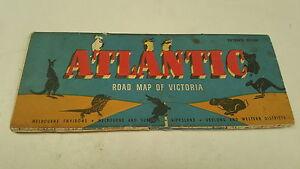 Road Map Victoria Australia.Details About 1950s Atlantic Oil Co Road Map Of Victoria Australia