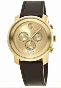 Movado 3600409 Bold 44MM Men's Chronograph Brown Leather Watch