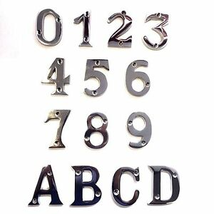 Image is loading Polished-Chrome-House-Door-Numbers-Numerals-53mm-&-  sc 1 st  eBay & Polished Chrome House Door Numbers/Numerals -53mm \u0026 Letters -53mm | eBay