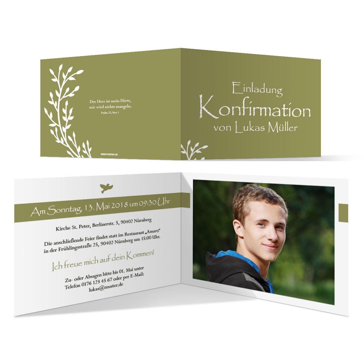 Konfirmation Einladungskarten Konfirmationskarten Einladungen Wachsende Knospen | Shop Düsseldorf  | Zahlreiche In Vielfalt