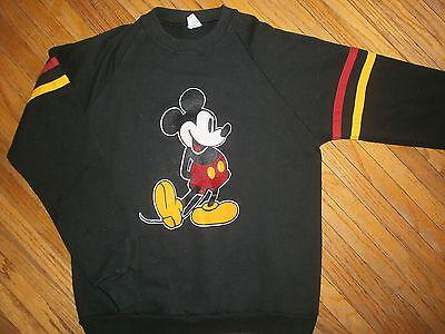 Vtg Mickey Maus Sweatshirt Klassisch Pose Fuzzy Felt Patch 70er Jahre 80er StraßEnpreis