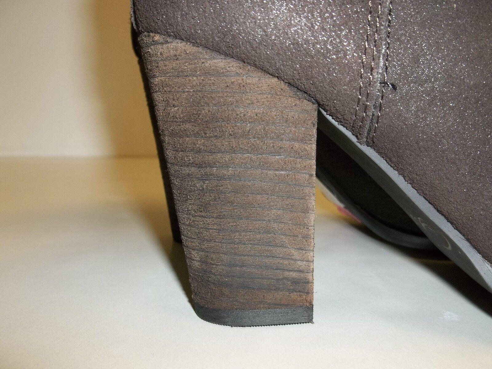 Reba Braun Größe 10 M ZANIA Braun Reba Leder Ankle Stiefel New Damenschuhe Schuhes 11e17d