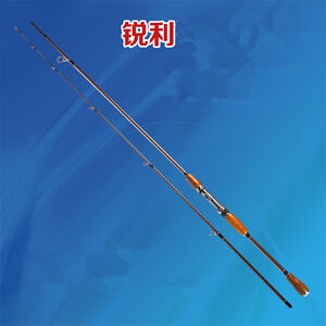 2 sections carbon fibre sensitive and lightweight inshore spinning fishing rod