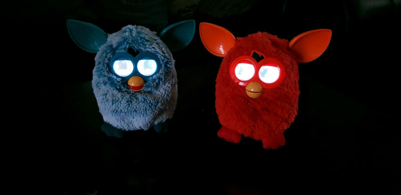 2012 Furby Interactive Toy Figures - Lot Of 2 Turquoise Teal And orange