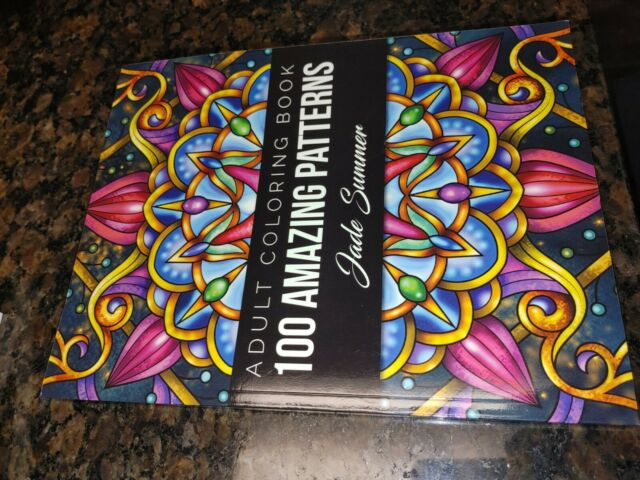100 Amazing Patterns : An Adult Coloring Book With Fun, Easy, And Relaxing Coloring  Pages By Jade Summer (2019, Trade Paperback) For Sale Online EBay