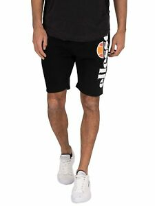 Ellesse-Men-039-s-Bossini-Fleece-Sweat-Shorts-Black