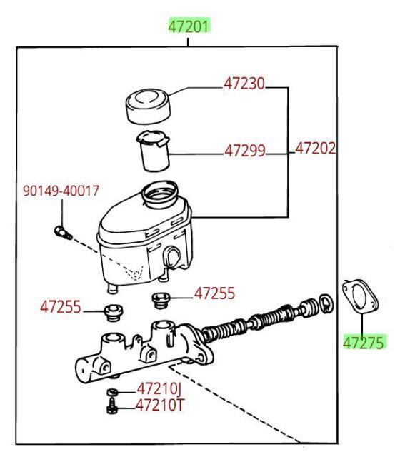 s l640 toyota tundra brake master cylinder assembly genuine oe oem ebay
