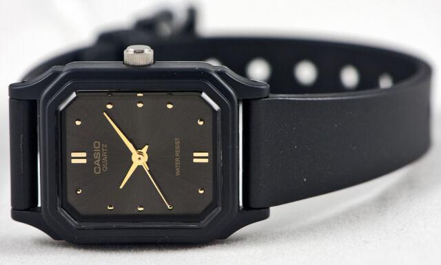 Casio LQ-142E-1A Ladies Analog Watch Black Gold Classic New