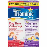Triaminic Childrens Syrup Day Time & Night Time Cold & Cough Combo - 2 Pack