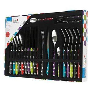 Amefa-Eclat-Multi-Dots-24-Piece-Stainless-Steel-Cutlery-Set