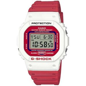 6185bc73483 CASIO G-SHOCK RED + WHITE DIGITAL RESIN MENS WATCH DW-5600TB-4A