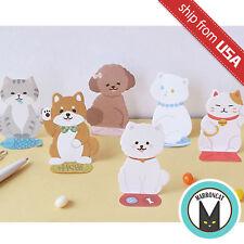 Lot 8 Cute Kawaii Maneki Neko Lucky Cat Dog Memo Pad Stationery Sticky Notes