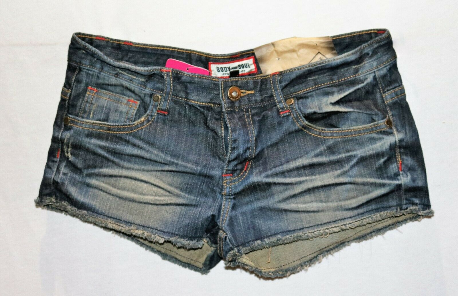 Body & Soul Brand bluee Denim Cut Off Shorts Size S BNWT  TQ64