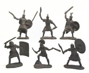 Jouet Soldats Guerriers Romains plastique caoutchouté 55-75 mm 6pcs