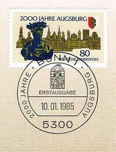 BRD-1985-Augsburg-2000-Jahre-Nr-1234-mit-Bonner-Ersttagssonderstempel-1A-158