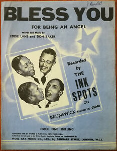 Bless You by Eddie Lane and Don Baker Noel Gay Music Co. Vintage Music Pub. 1939