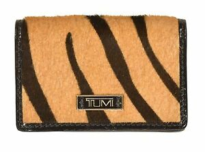 Tumi-Tiger-Fur-amp-Leather-Credit-Card-Case-Wallet-New-150
