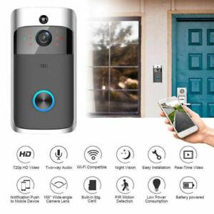 Smart-Wireless-WiFi-Ring-Door-Bell-Video-Camera-Phone-Doorbell-Intercom-Home-US