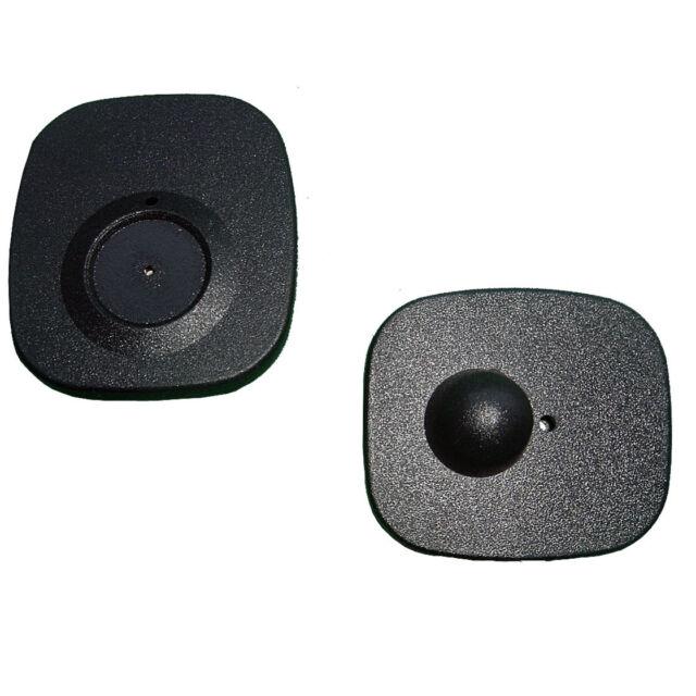 1000 RF étiquettes dures MINI SQUARE Noir 8.2mhz