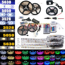 EL 5M 16ft SMD 3528 5050 5630 300LEDs RGB White LED Strip Light 12V Power Supply