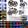 EL 5M 10M SMD 3528 5050 5630 300LEDs RGB White LED Strip Light 12V Power Adapter