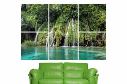 5 Piece Self Adhesive Nature Waterfall Jungle Wall Sticker Poster M13-286
