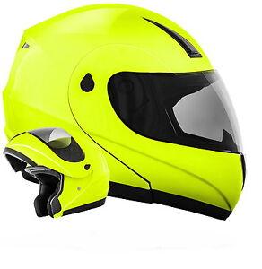 ATO-K71-Neon-Groesse-XL-Klapphelm-Motorradhelm-ECE-22-05-Flip-Up-Helm-Signal