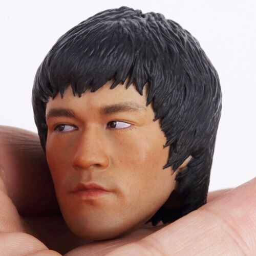Hot Toys 1//6 Scale Custom Bruce Lee Head Sculpt For 12/'/' Male Muscle Figure Body
