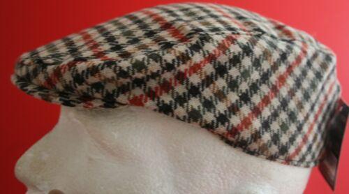Tweed hiver laine mélange homme casquette rouge et noir carreaux 2 tailles disp 6.99 £ seulement