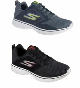 Details about Skechers Go Walk 4 Mens Goga Max Casual Lace Up Running Trainers Black Grey