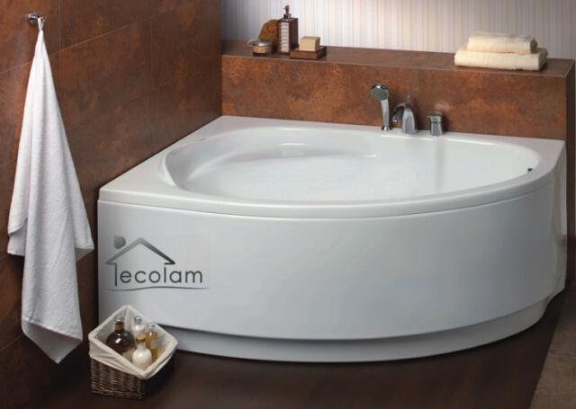 Badewanne Wanne Eckwanne 150 x 100 cm ohne mit Schürze Verkleidung Ablauf links