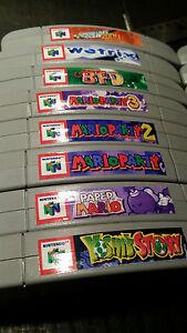 N64 Cartridge Top End Labels - ALL US GAMES +  14 Variants Labels Spine Nintendo
