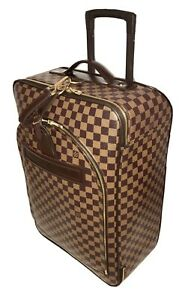Louis-Vuitton-Pegase-55-Damier-Ebene-Rolling-Suitcase-W-Name-tag-AUTHENTIC