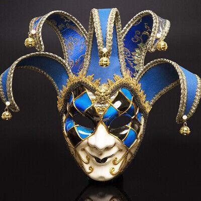 Quarter Broken Face Mardi Gras Masquerade Mask Black