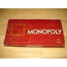 Jeu de société Monopoly de Parker - Intérieur façon velours -Boîte bordeaux