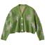 Women-Sweater-High-Elastic-Preppy-Style-Flower-Slim-Sexy-Cardigan-V-Neck-Knit thumbnail 3