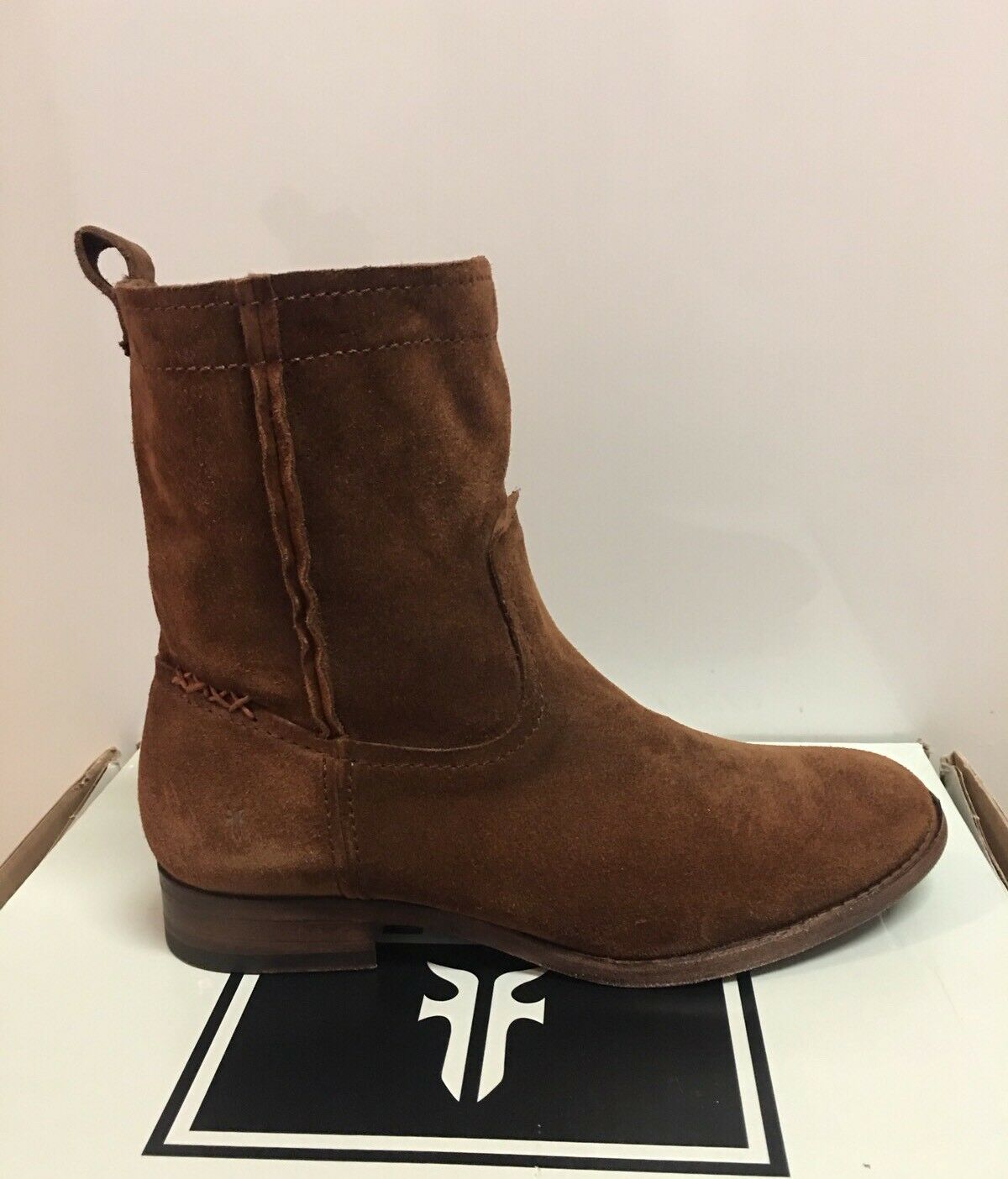 Nuova -Donne _sFrye Cara Short Wood  Wood Leather stivali Dimensione 7