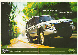 Publicité Advertising  2002  (Double page)  LAND ROVER  Nouveau DISCOVERY