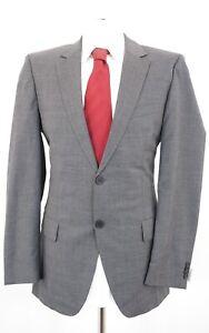 RED HUGO BOSS Anzug Aamon Hago Gr.50 grau meliert Einreiher 2-Knopf -C78