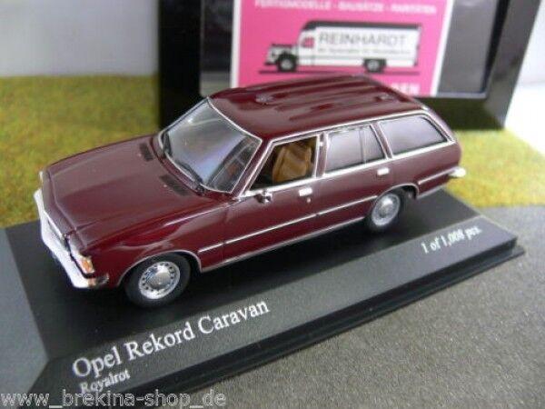 1 43 Minichamps Opel Rekord D Caravan 1975 royalred