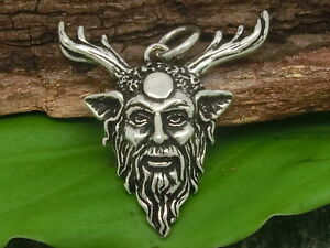 Cernunnos-anhanger-SILBER-925-con-cinta-Amuleto-Dios-CIERVO-waldgott-CELTA